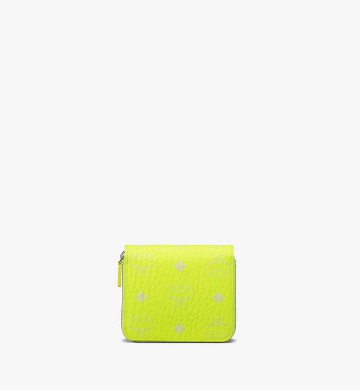 MCM Mini-Brieftasche in Visetos mit Reissverschluss Alternate View