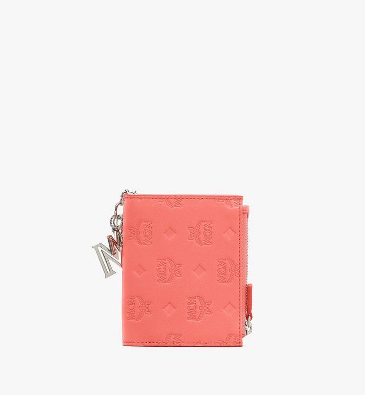 MCM Klara Two Fold Wallet in Monogram Leather Pink MYS9SKM13O3001 Alternate View 2