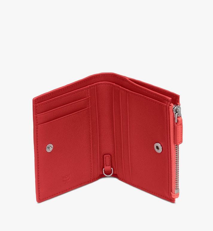 MCM Klara Two Fold Wallet in Monogram Leather Pink MYS9SKM13O3001 Alternate View 3