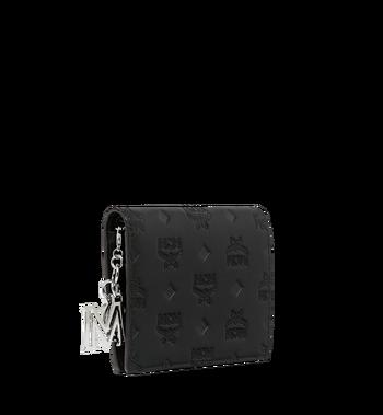 MCM Flache Charm-Brieftasche aus Leder mit Monogramm Alternate View 2