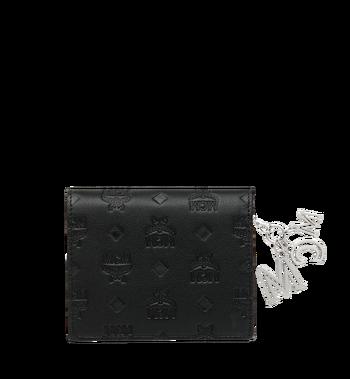 MCM Flache Charm-Brieftasche aus Leder mit Monogramm Alternate View 3