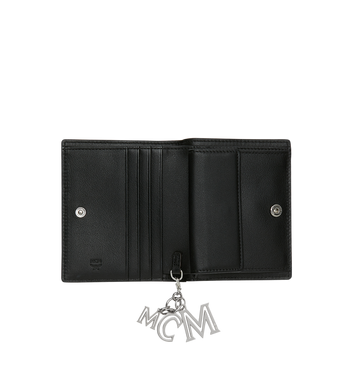 MCM Flache Charm-Brieftasche aus Leder mit Monogramm Alternate View 4