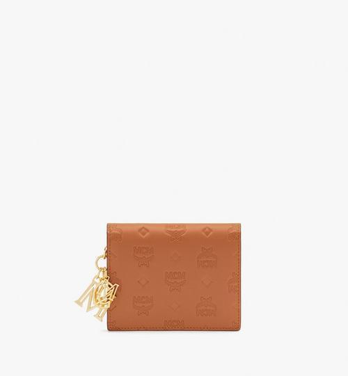 Gefaltete Klara Mini-Lederbrieftasche mit Monogramm