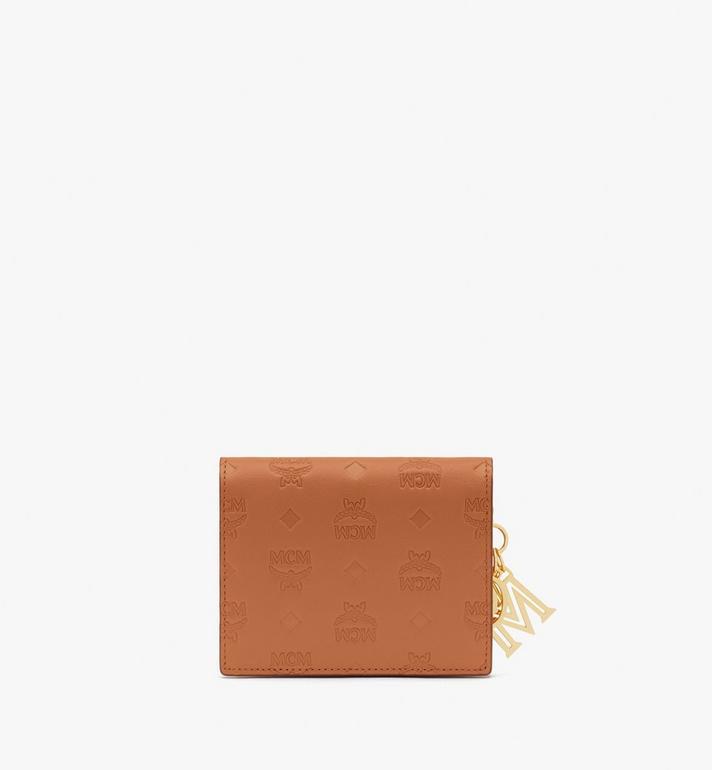 MCM Mini portefeuille à deux volets Klara en cuir monogrammé Cognac MYS9SKM40CO001 Alternate View 2