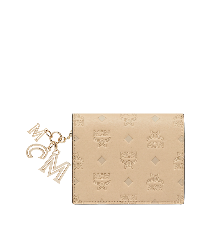 MCM Flat Wallet in Monogram Leather Charm Alternate View