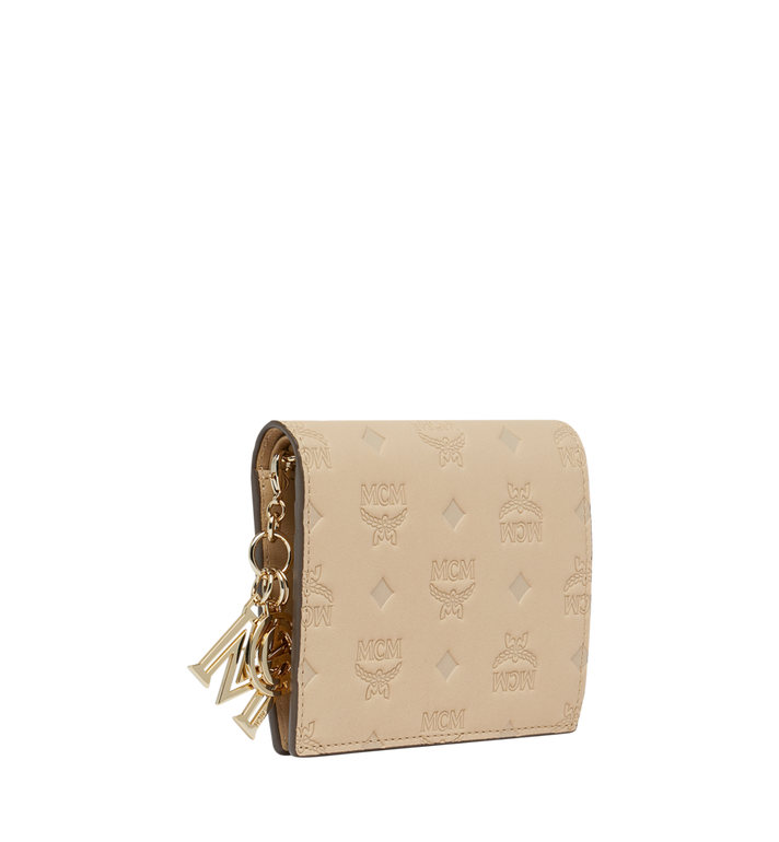 MCM Flat Wallet in Monogram Leather Charm Alternate View 2