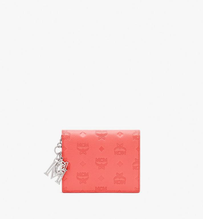 MCM Klara Mini Bifold Wallet in Monogram Leather Alternate View