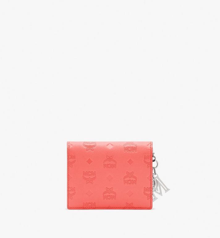 MCM Klara Mini Bifold Wallet in Monogram Leather Orange MYS9SKM40O3001 Alternate View 2