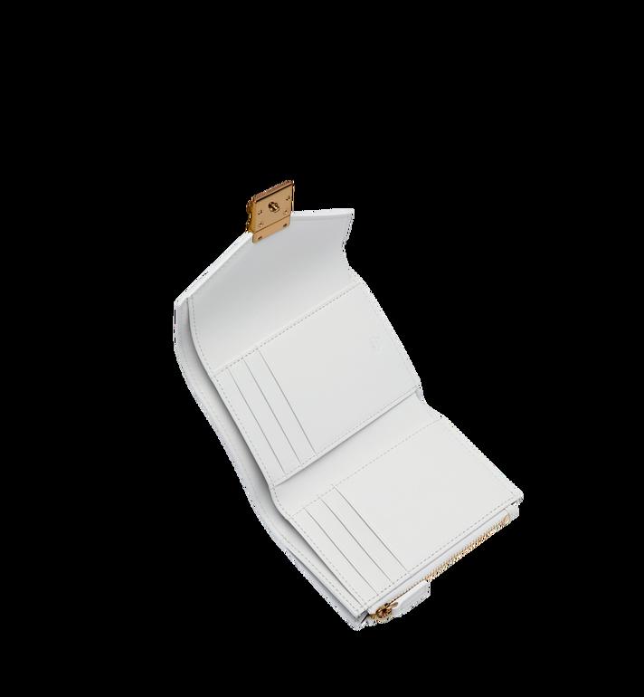 MCM Patricia Three Fold Wallet in Studded Outline Visetos White MYS9SPA31WT001 Alternate View 4