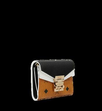 MCM Patricia dreifach gefaltete Brieftasche aus Visetos Leather Block Alternate View 2