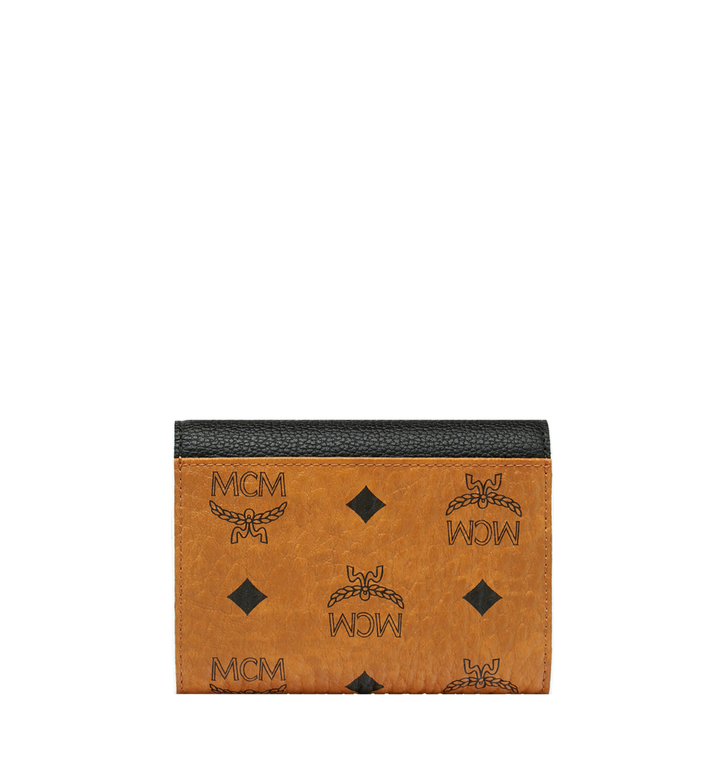 MCM Patricia Three Fold Wallet in Visetos Leather Block Alternate View 3