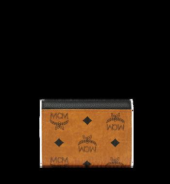MCM Patricia dreifach gefaltete Brieftasche aus Visetos Leather Block Alternate View 3