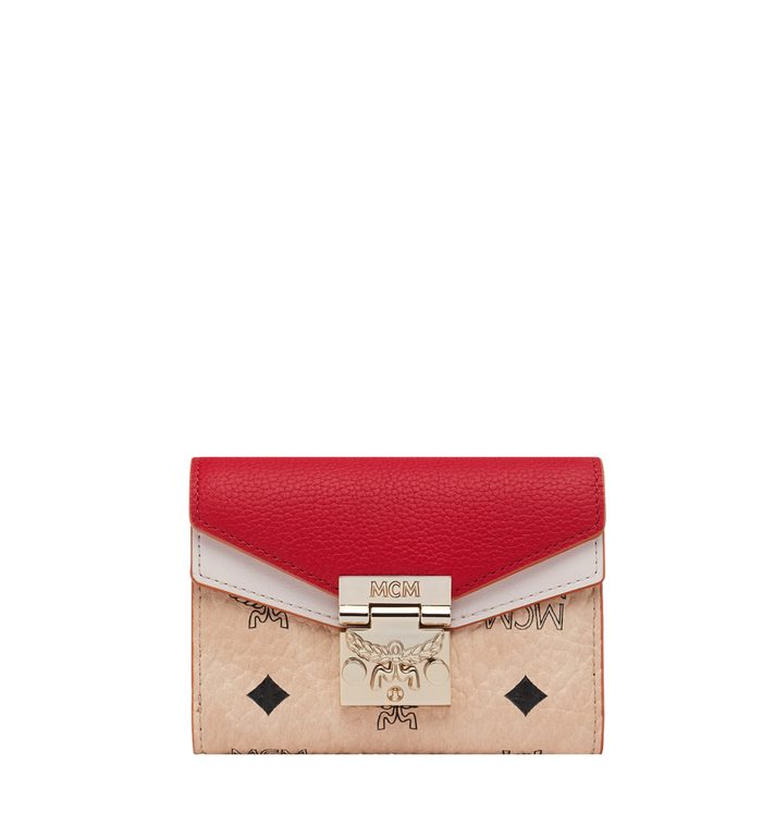 MCM Patricia Three Fold Wallet in Visetos Leather Block Alternate View