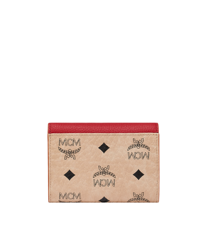 MCM Patricia Three Fold Wallet in Visetos Leather Block Beige MYS9SPA36IZ001 Alternate View 3