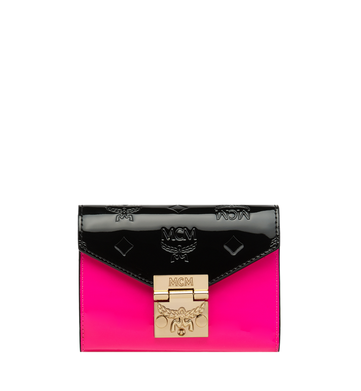 MCM Patricia Three-Fold Wallet in Monogram Patent Leather Alternate View