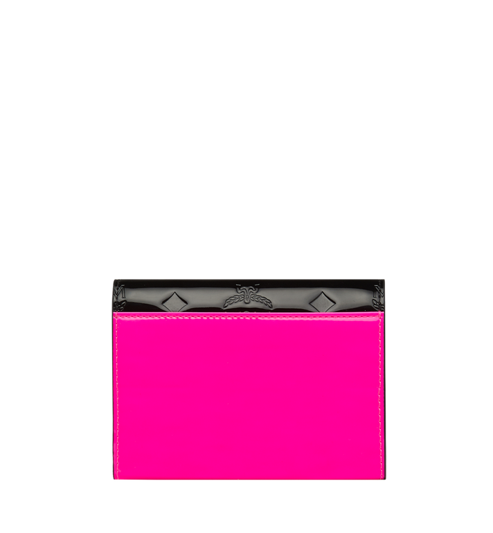 MCM Patricia Three-Fold Wallet in Monogram Patent Leather Alternate View 3