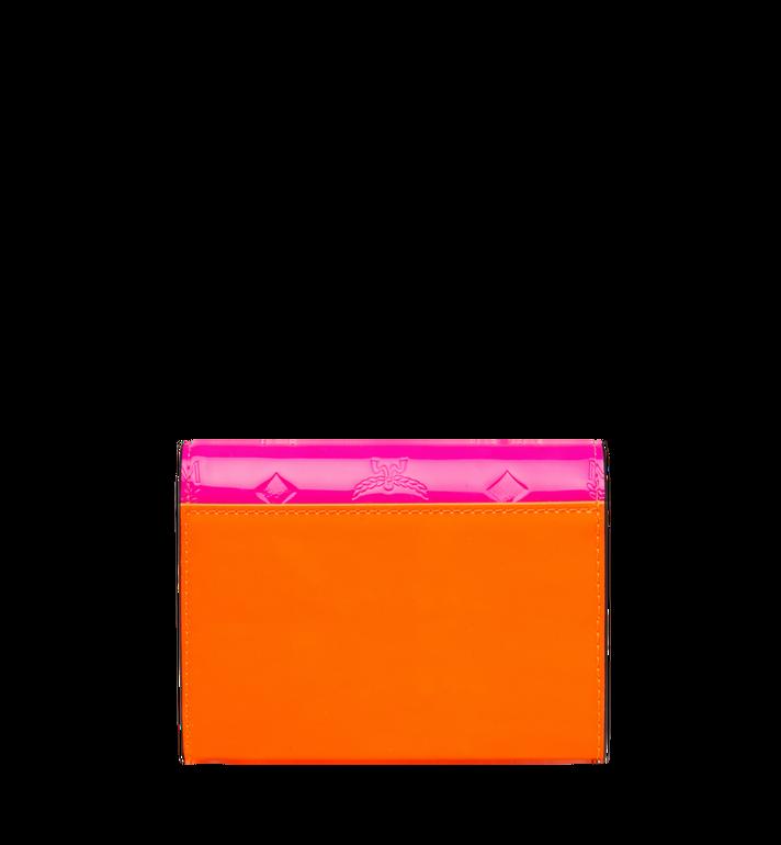 MCM Dreifach gefaltete Patricia Brieftasche aus Lackleder mit Monogramm Alternate View 3