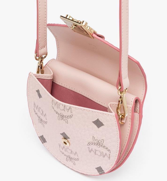 MCM Patricia Round Crossbody Wallet in Visetos Pink MYSAAPA03QH001 Alternate View 4
