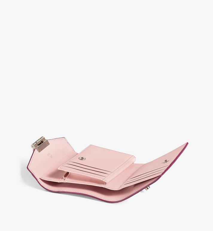 MCM Patricia Trifold Wallet in Color Block Visetos Pink MYSAAPA04QJ001 Alternate View 3