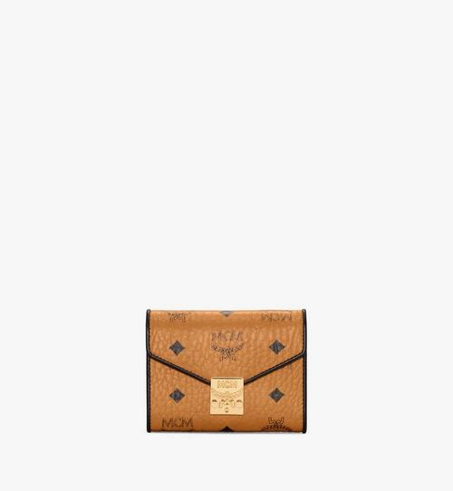 Patricia Three Fold Wallet in Visetos Leather Block