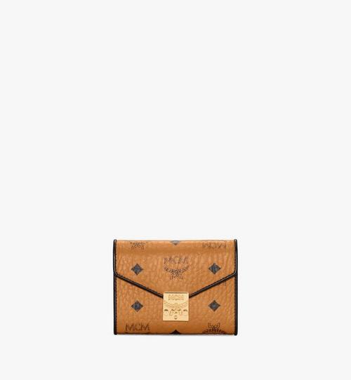 Patricia Three Fold Wallet in Visetos Leather Block