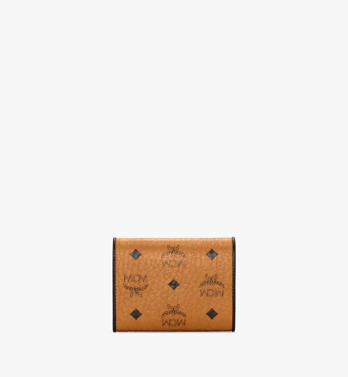 MCM Patricia Trifold Wallet in Visetos Leather Block Cognac MYSAAPA05CO001 Alternate View 3
