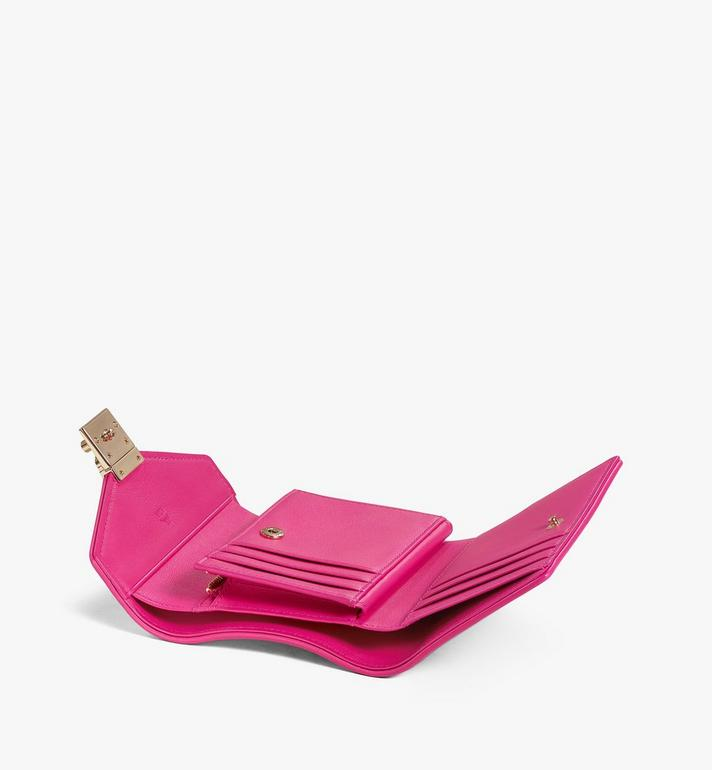 MCM Patricia Trifold Wallet in Visetos Leather Block Pink MYSAAPA05QH001 Alternate View 3