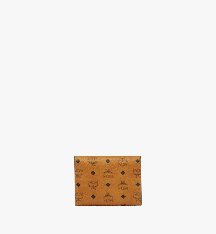 MCM Trifold Wallet in Visetos Original Cognac MYSAAVI01CO001 Alternate View 3