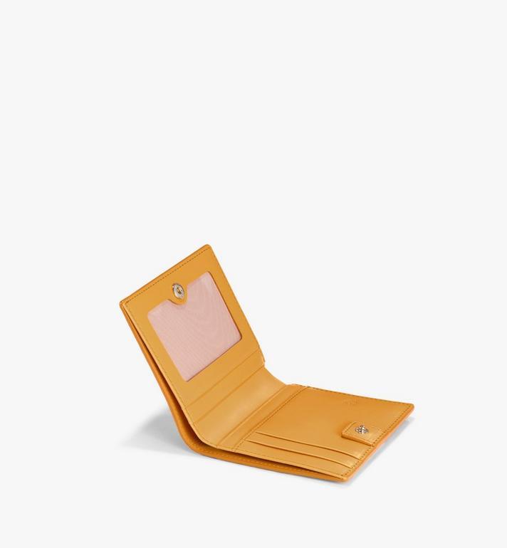 MCM Flat Wallet in Visetos Original Gold MYSAAVI02O5001 Alternate View 2