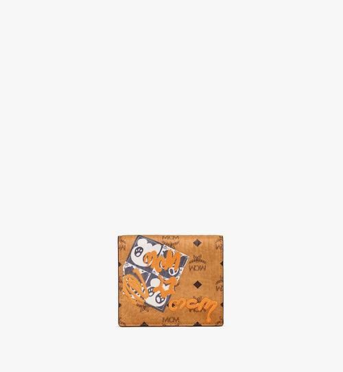 Gefaltete flache Brieftasche in Visetos mit Berliner Bär