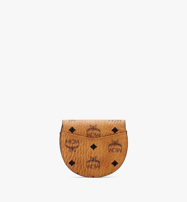 MCM Portefeuille à bandoulière Patricia rond en Visetos Cognac MYSASPA01CO001 Alternate View 2