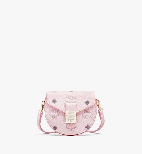Runde Patricia Crossbody-Brieftasche in Visetos