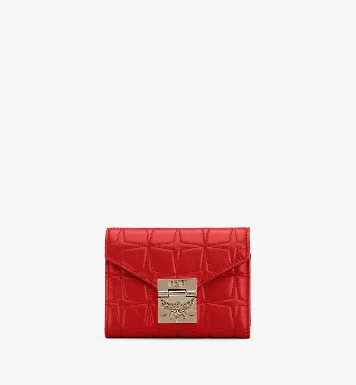 MCM Patricia菱紋皮革三折皮包 Red MYSASPA02R4001 Alternate View 1