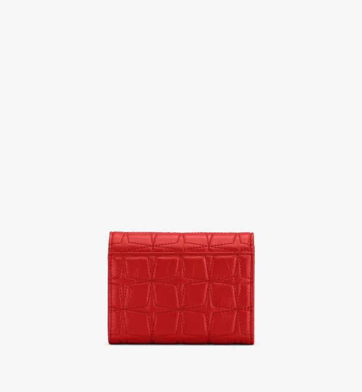 MCM Patricia Trifold Wallet in Diamond Leather Red MYSASPA02R4001 Alternate View 2
