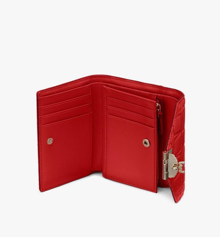 MCM Patricia Trifold Wallet in Diamond Leather  MYSASPA02R4001 Alternate View 3