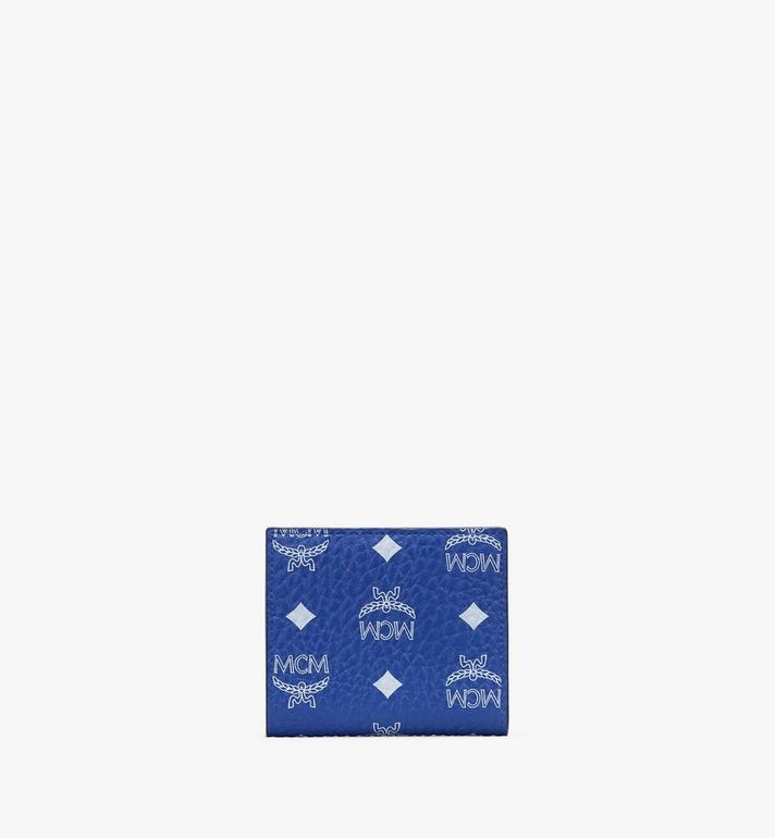 MCM Bifold Wallet in Visetos Blue MYSASVI01H1001 Alternate View 2