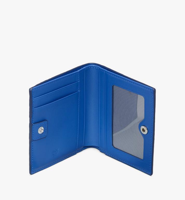 MCM กระเป๋าสตางค์พับสองทบลาย Visetos Blue MYSASVI01H1001 Alternate View 3