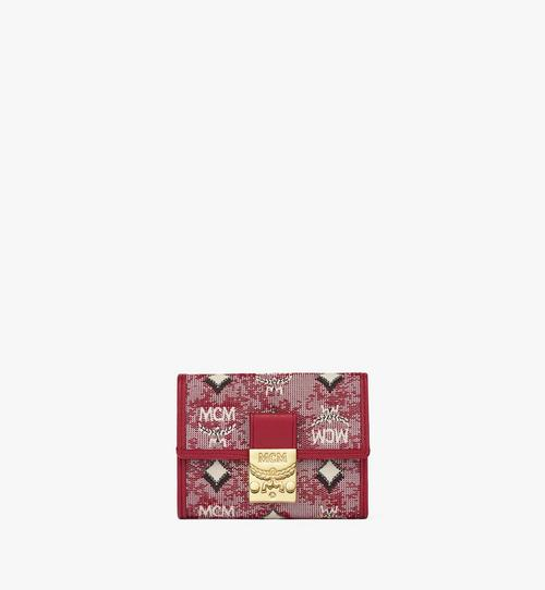 Dreifach gefaltete Brieftasche aus Vintage-Jacquard mit Monogramm