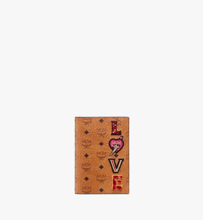 MCM Passport Holder in Love Patch Visetos Alternate View