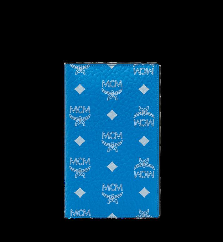 MCM Passport Holder in White Logo Visetos Alternate View