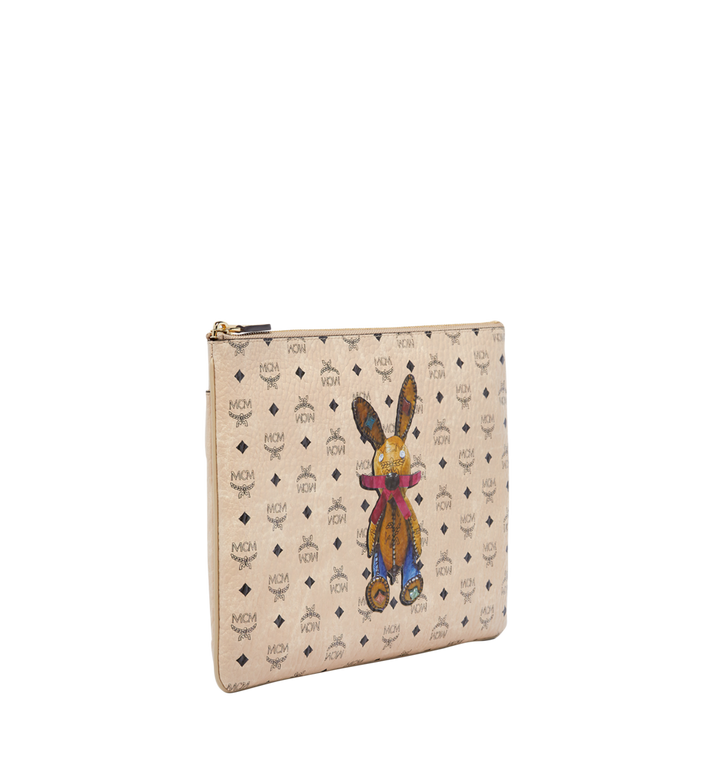 MCM Rabbit Crossbody Pouch in Visetos Beige MYZ6AXL81IG001 Alternate View 2