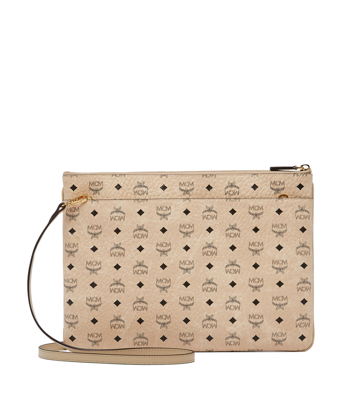 MCM Rabbit Crossbody Pouch in Visetos Beige MYZ6AXL81IG001 Alternate View 3
