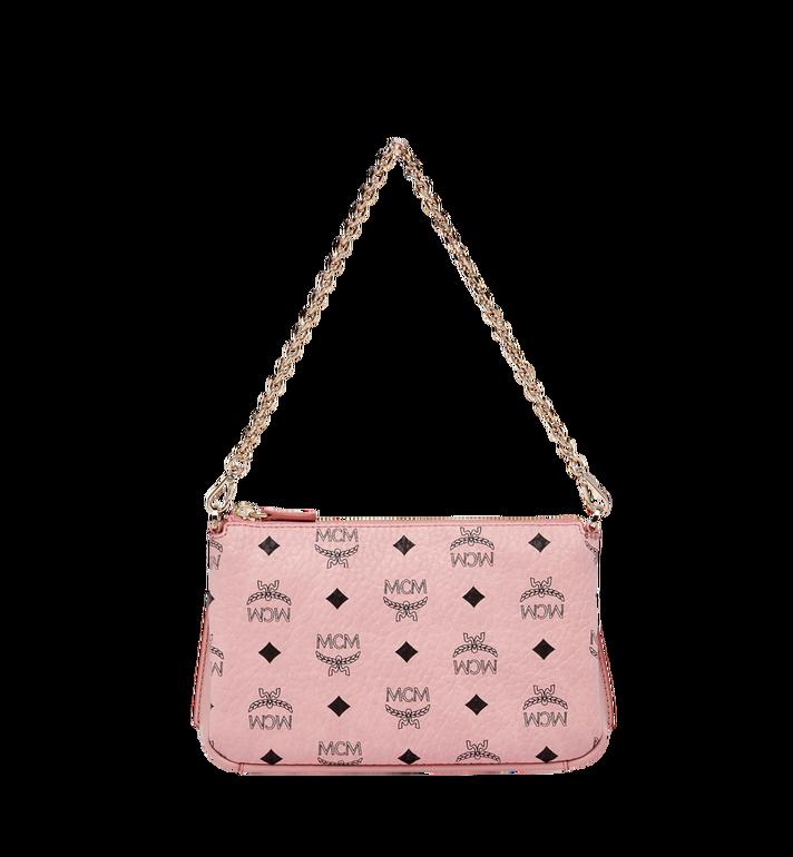 MCM Millie Top Zip Shoulder Bag in Visetos Alternate View