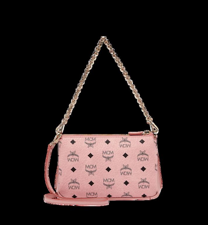 MCM Millie Top Zip Shoulder Bag in Visetos Alternate View 4