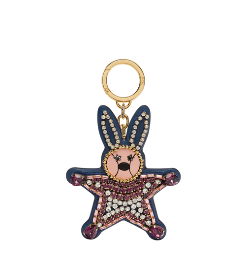 Crystal Star Rabbit Charm in Leather