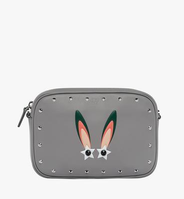幻想兔皮革斜挎包