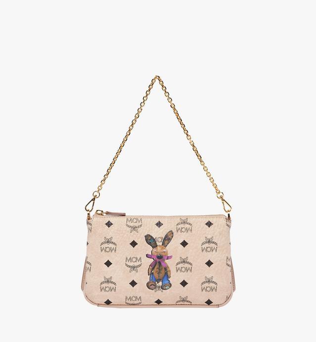 Rabbit Top Zip Shoulder Bag in Visetos