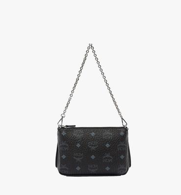 Millie Top Zip Shoulder Bag in Visetos