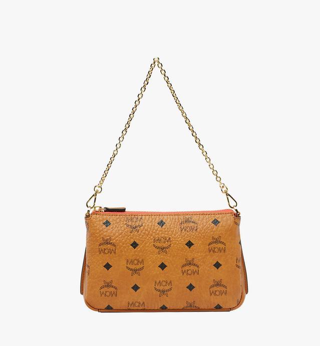 Millie Top Zip Shoulder Bag in Visetos