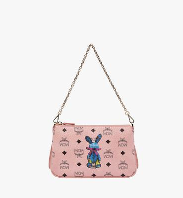 Rabbit Top Zip Shoulder Bag in Visetos